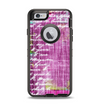 The Sketched Pink Word Surface Apple iPhone 6 Otterbox Defender Case Skin Set