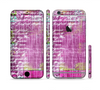 The Sketched Pink Word Surface Sectioned Skin Series for the Apple iPhone 6 Plus