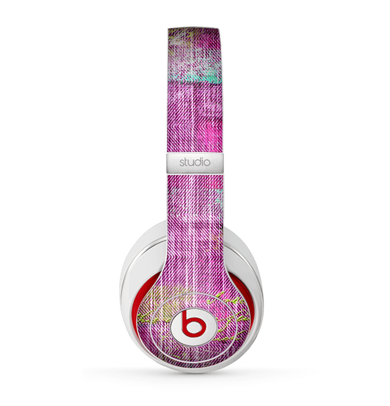 The Sketched Pink Word Surface Skin for the Beats by Dre Studio (2013+ Version) Headphones