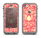 The Sketched Red and Yellow Flowers Apple iPhone 5c LifeProof Nuud Case Skin Set