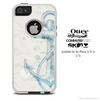 The Sketched Vintage Blue Anchor Skin For The iPhone 4-4s or 5-5s Otterbox Commuter Case