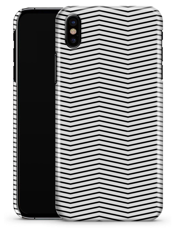 The Slate Black Chevron Pattern with Clear Backing - iPhone X Clipit Case