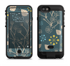 the slate blue and coral floral sketched lace patterns v21  iPhone 6/6s Plus LifeProof Fre POWER Case Skin Kit