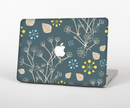 "The Slate Blue and Coral Floral Sketched Lace Patterns v21 Skin Set for the Apple MacBook Pro 15"" with Retina Display"