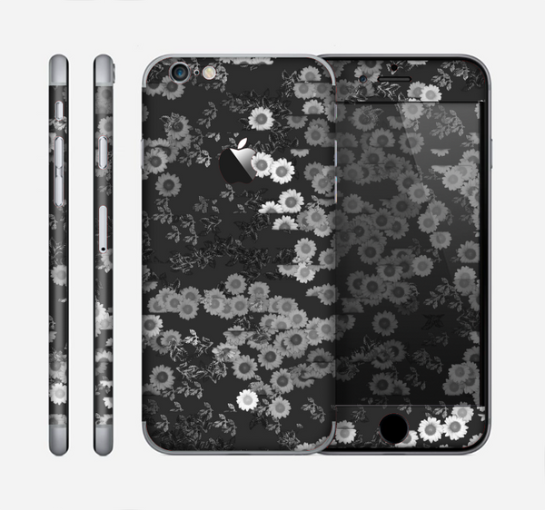 The Small Black and White Flower Sprouts Skin for the Apple iPhone 6
