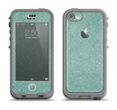 The Small Green Polkadotted Surface Apple iPhone 5c LifeProof Nuud Case Skin Set