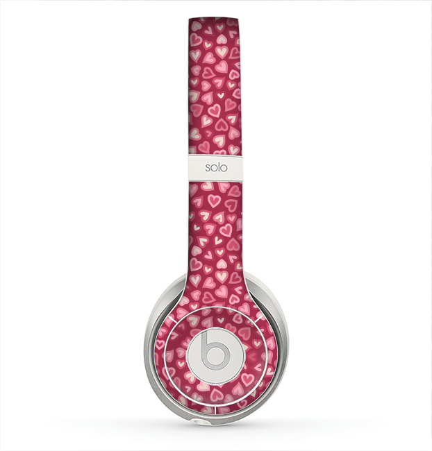 The Small Pink Hearts Collage Skin for the Beats by Dre Solo 2 Headphones