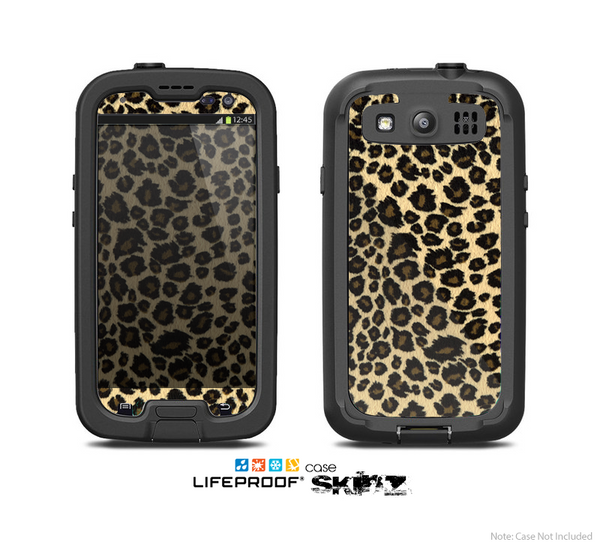 The Small Vector Cheetah Animal Print Skin For The Samsung Galaxy S3 LifeProof Case