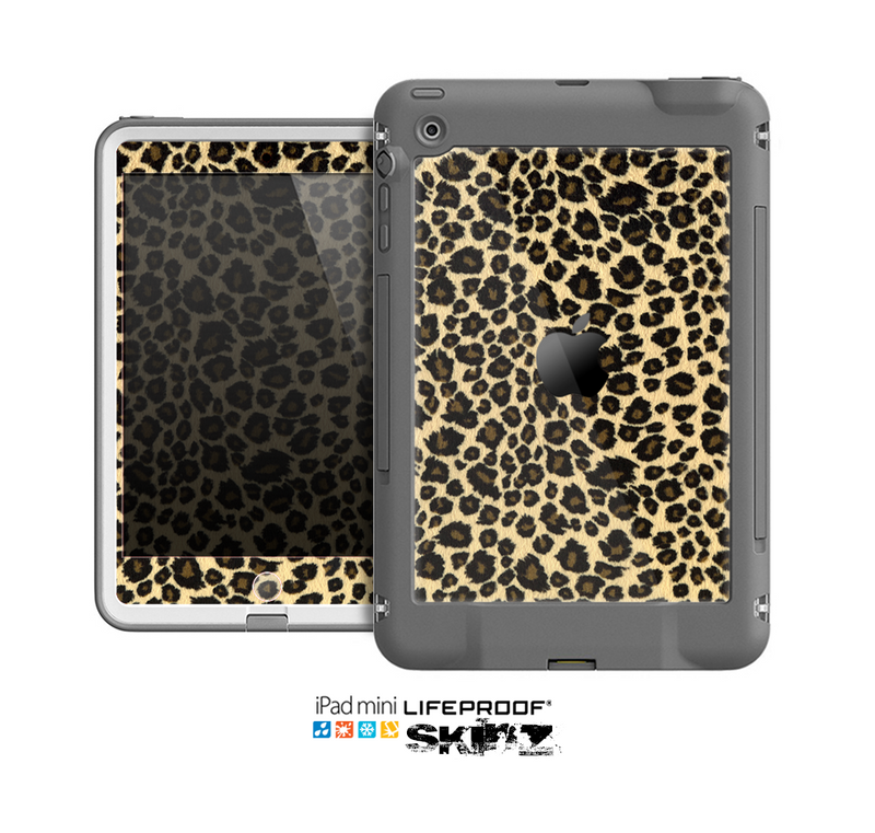 The Small Vector Cheetah Animal Print Skin for the Apple iPad Mini LifeProof Case