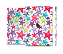 The Smiley Faced Vector Colored Starfish Pattern Full Body Skin Set for the Apple iPad Mini 3