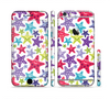 The Smiley Faced Vector Colored Starfish Pattern Sectioned Skin Series for the Apple iPhone 6 Plus