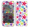 The Smiley Faced Vector Colored Starfish Pattern Skin for the Apple iPhone 5c