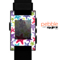 The Smiley Faced Vector Colored Starfish Pattern Skin for the Pebble SmartWatch