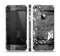 The Smudged White and Black Anchor Pattern Skin Set for the Apple iPhone 5