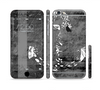 The Smudged White and Black Anchor Pattern Sectioned Skin Series for the Apple iPhone 6 Plus