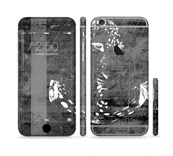 The Smudged White and Black Anchor Pattern Sectioned Skin Series for the Apple iPhone 6