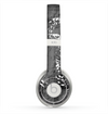 The Smudged White and Black Anchor Pattern Skin for the Beats by Dre Solo 2 Headphones