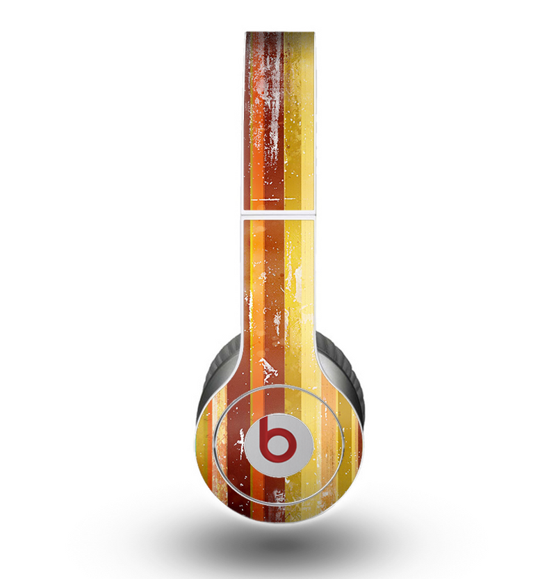 The Smudged Yellow Painted Stripes Pattern Skin for the Beats by Dre Original Solo-Solo HD Headphones