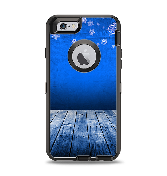 outlet store 00f7d 78bbd The Snowy Blue Wooden Dock Apple iPhone 6 Otterbox Defender Case Skin Set