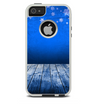 The Snowy Blue Wooden Dock Skin For The iPhone 5-5s Otterbox Commuter Case