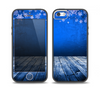 The Snowy Blue Wooden Dock Skin Set for the iPhone 5-5s Skech Glow Case