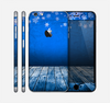 The Snowy Blue Wooden Dock Skin for the Apple iPhone 6 Plus