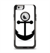 The Solid Black Anchor Silhouette Apple iPhone 6 Otterbox Commuter Case Skin Set