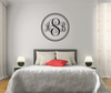 The Solid Black Script Monogram V1 Wall Decal