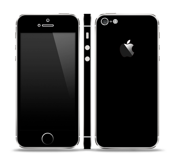 The Solid Black Skin Set for the Apple iPhone 5