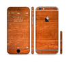 The Solid Cherry Wood Planks Sectioned Skin Series for the Apple iPhone 6
