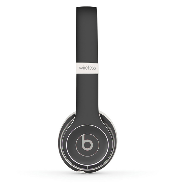 The Solid Dark Gray Skin Set for the Beats by Dre Solo 2 Wireless Headphones