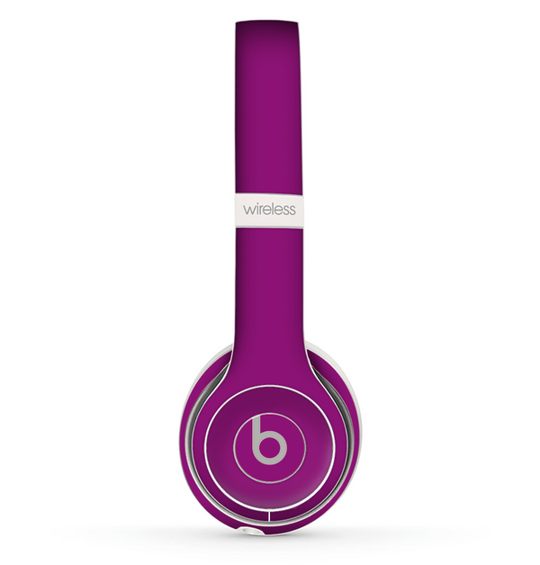 The Solid Dark Purple Skin Set for the Beats by Dre Solo 2 Wireless Headphones