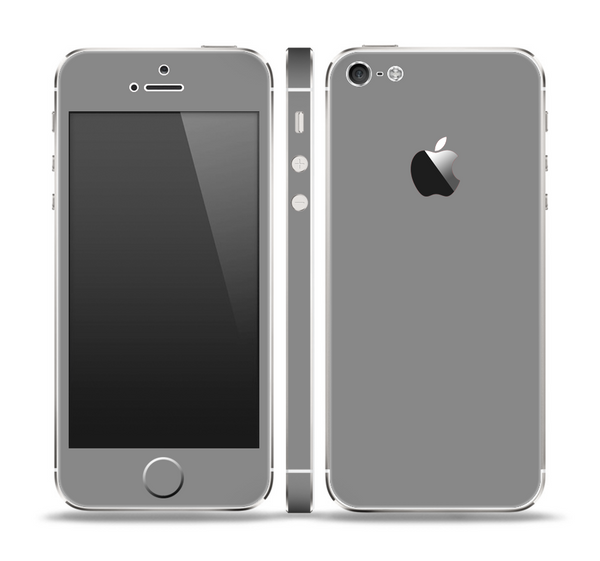 The Solid Gray Skin Set for the Apple iPhone 5