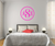 The Solid Hot Pink Script Monogram V1 Wall Decal