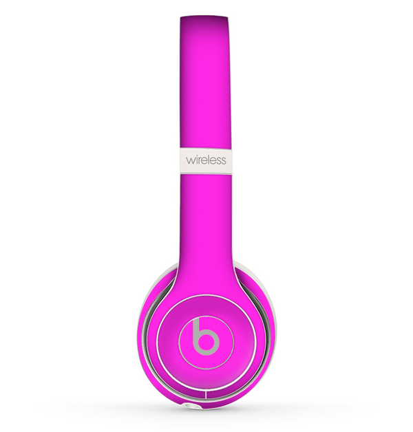 The Solid Hot Pink V2 Skin Set for the Beats by Dre Solo 2 Wireless Headphones