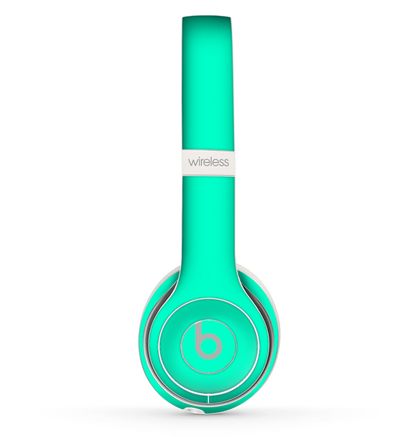 The Solid Mint V3 Skin Set for the Beats by Dre Solo 2 Wireless Headphones