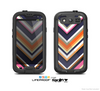 The Solid Pink & Blue Colored Chevron Pattern Skin For The Samsung Galaxy S3 LifeProof Case