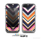 The Solid Pink & Blue Colored Chevron Pattern Skin for the Apple iPhone 5c LifeProof Case