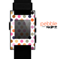 The Solid Pink & Blue Colored Polka Dots Skin for the Pebble SmartWatch