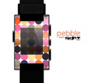 The Solid Pink & Blue Colored Polka Dots V2 Skin for the Pebble SmartWatch