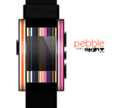 The Solid Pink & Blue Colored Stripes Skin for the Pebble SmartWatch