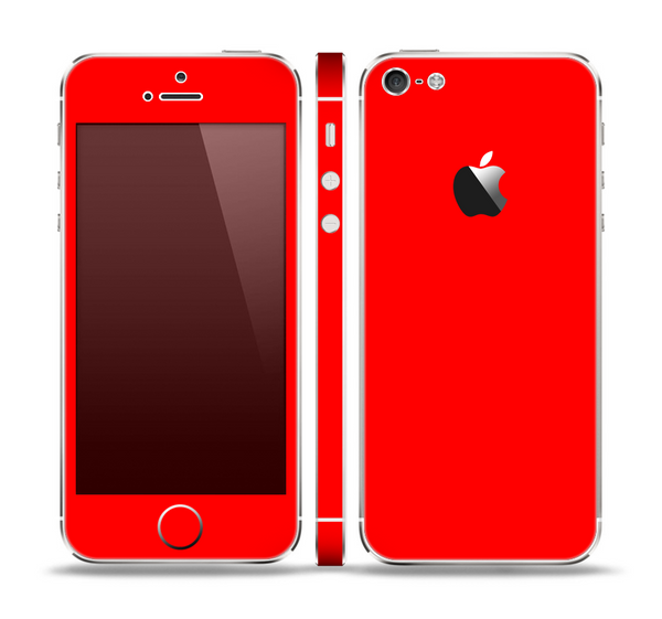 The Solid Red Skin Set for the Apple iPhone 5