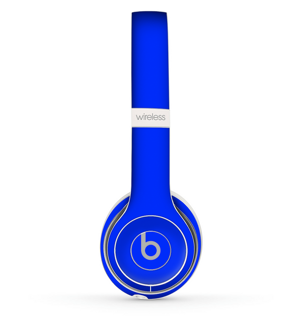 The Solid Royal Blue Skin Set for the Beats by Dre Solo 2 Wireless Headphones