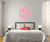 The Solid Subtle Pink Circle Monogram V1 Wall Decal