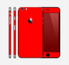 The Solid Vibrant Red Skin for the Apple iPhone 6 Plus
