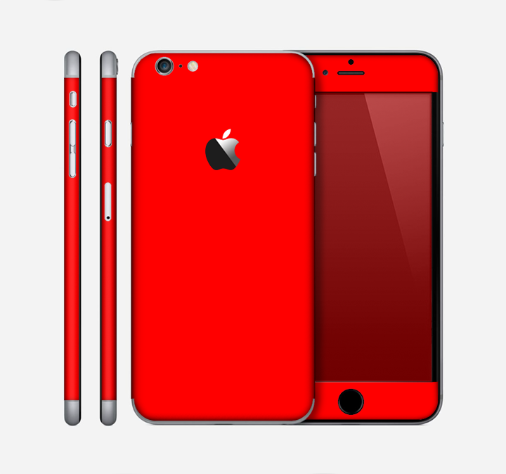 The Solid Vibrant Red Skin for the Apple iPhone 6 Plus - DesignSkinz 4229ec548392