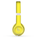 The Solid Yellow Skin Set for the Beats by Dre Solo 2 Wireless Headphones