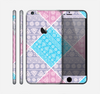 The Squared Pink & Blue Textile Patterns Skin for the Apple iPhone 6 Plus