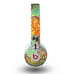 The Squiggly Red & Blue Hearts Over Yellow Skin for the Beats by Dre Mixr Headphones