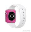 The Stamped Pink Texture Full-Body Skin Kit for the Apple Watch